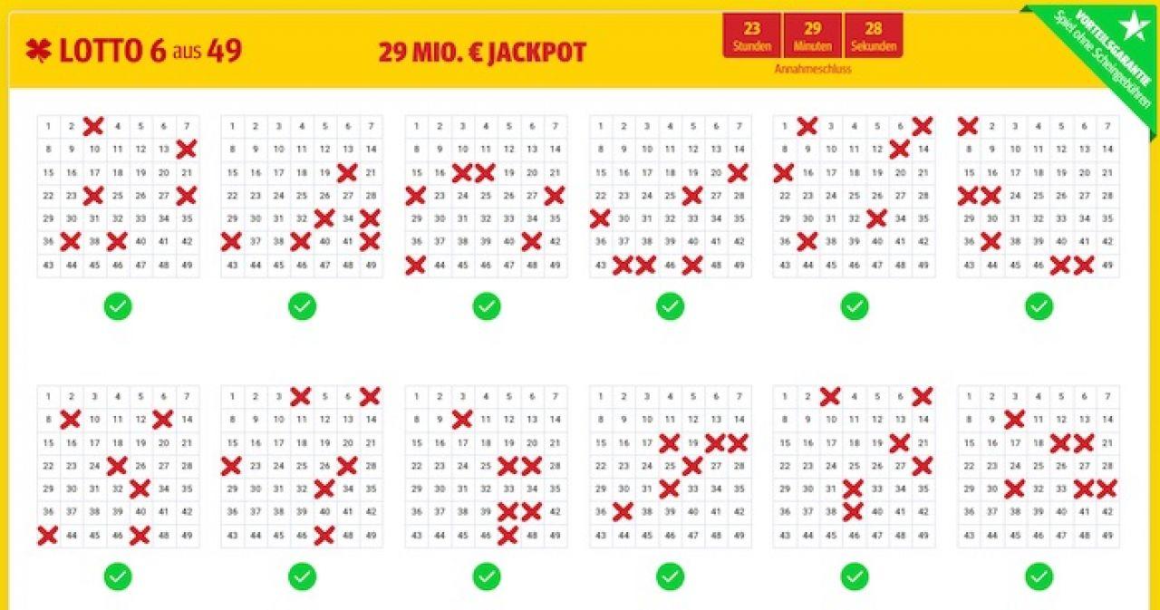 Lottoschein - Lottozahlen.de